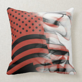 America Poppin' Smoke Throw Pillow