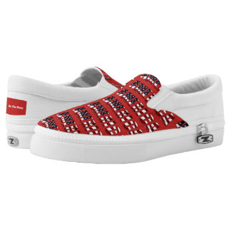 America Red, White and Blue Slip On Sneakers