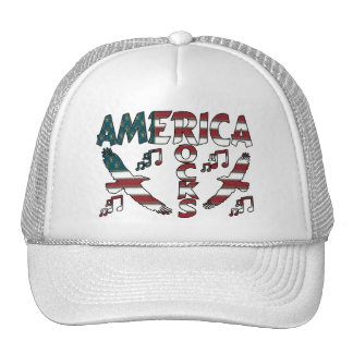 America Rocks With Eagles & Musical Notes Trucker Hat