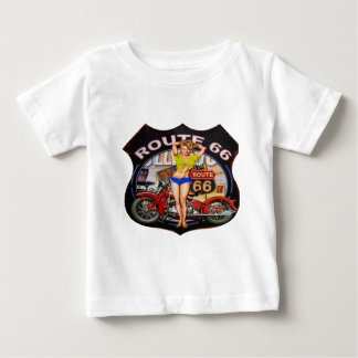 America route 66 with a motorcycle baby T-Shirt