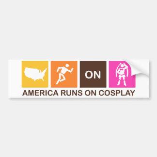 America Runs on Cosplay Bumper Sticker