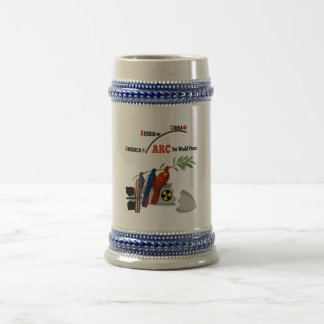 America Russia China for world peace 18 Oz Beer Stein