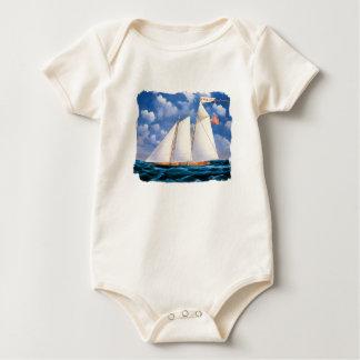 America (schooner yacht) by James Bard Baby Bodysuit