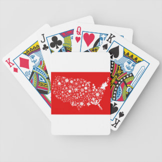 America Snowflake Map Bicycle Playing Cards