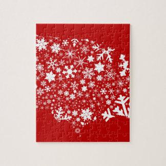 America Snowflake Map Jigsaw Puzzle