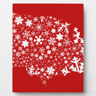 America Snowflake Map Plaque