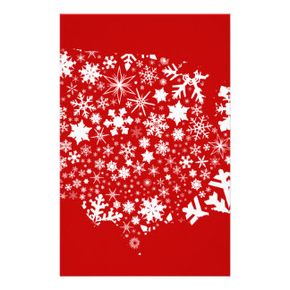 America Snowflake Map Stationery