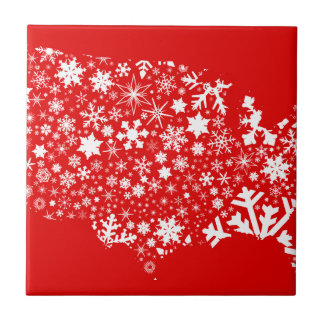 America Snowflake Map Tile
