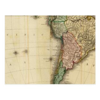 America south postcard