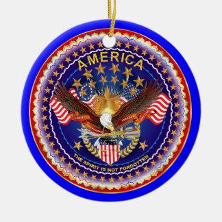 America Spirit Charm  Please See Notes Round Ceramic Ornament