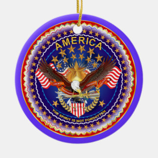 America Spirit Charm  Please See Notes Round Ceramic Ornament