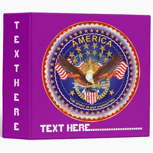 America Spirit Is Not Forgotten Please See Notes Vinyl Binder