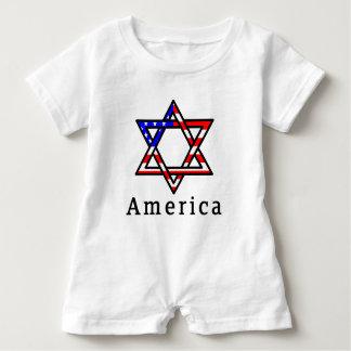 America Star of David Judaism! BABY ROMPER! Baby Romper