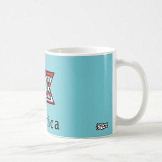 America Star of David Judaism! BLUE MUG! Coffee Mug