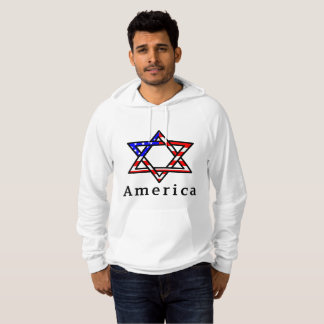 America Star of David Judaism! HOODIE