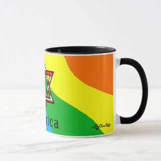 America Star of David Judaism! RAINBOW MUG! Mug