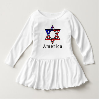 America Star of David Judaism! TODDLER DRESS