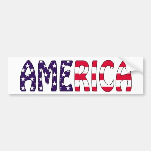 America Stars and Stripes Bumper Sticker