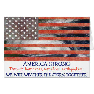 America Strong, US Flag Hurricane Help Card