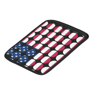 America Stylish Girly Chic Polka Dot American Flag iPad Sleeve