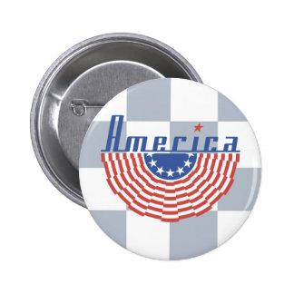 America Swag Banner 2 Inch Round Button