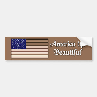 America the Beautiful Flag Bumper Sticker