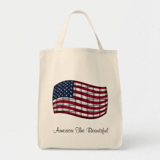 America The Beautiful Grocery Tote