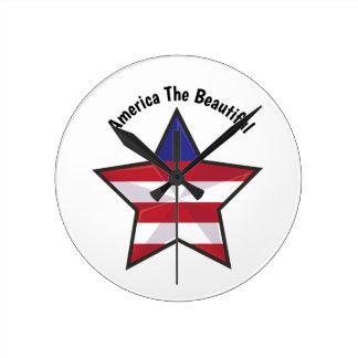 America the Beautiful Wall Clocks
