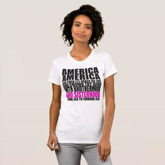 America the Beautiful with Sisterhood T-Shirt