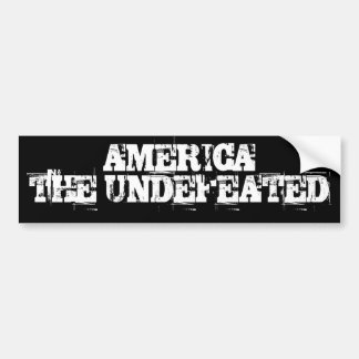 AMERICA   THE UNDEFEATED BUMPER STICKER