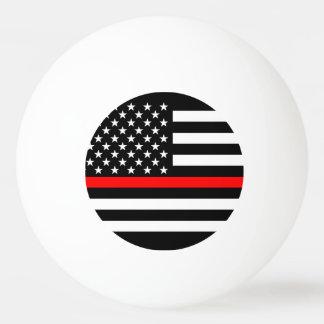 America Thin Red Line Symbol Ping Pong Ball