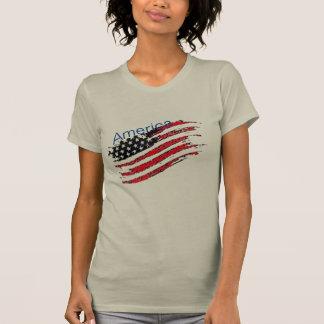 america U.S.A t-shirt US flag star stripes design