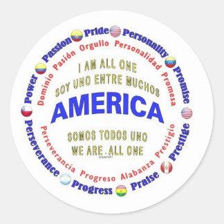 america united - south america round sticker