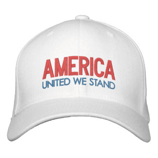 AMERICA: United We Stand Embroidered Hat