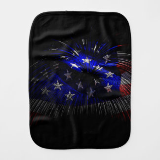 America US Flag Baby Burp Cloths