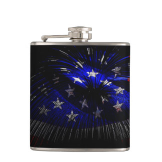 America US Flag Hip Flask