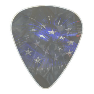 America US Flag Pearl Celluloid Guitar Pick