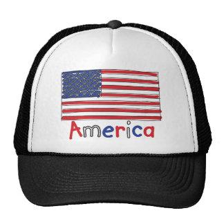 America USA KIDS Flag Trucker Hat
