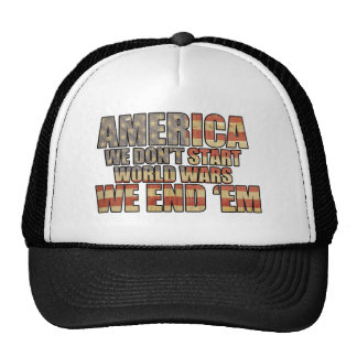 America - We End World Wars! Trucker Hat
