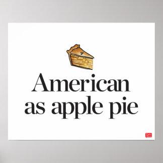 Américain comme tarte aux pommes