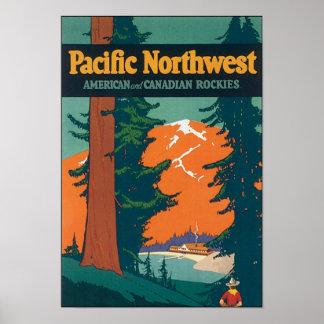 Américain du nord-ouest Pacifique et Canadien les Affiches