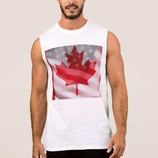 Américain et Canadien marque le T-shirt sans