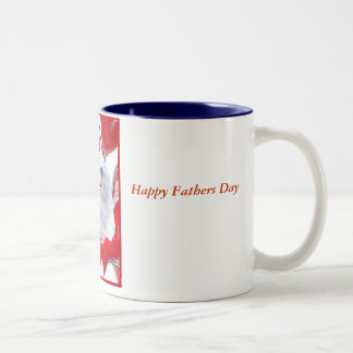 AmericaIsOneNationUnderGod2, Happy Fathers Day,... Two-Tone Coffee Mug