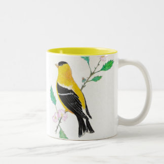 americam goldfinch, American Goldfinch Two-Tone Coffee Mug