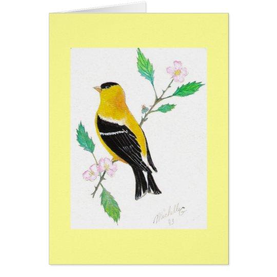 americam goldfinch card