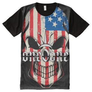 American 101 Skull All-Over-Print T-Shirt