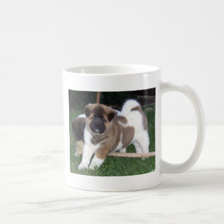 American Akita Puppy Dog Coffee Mug