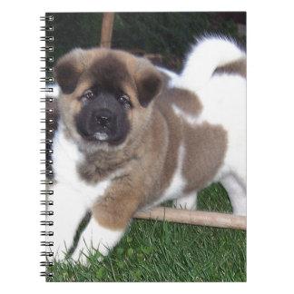 American Akita Puppy Dog Notebooks