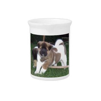 American Akita Puppy Dog Pitcher