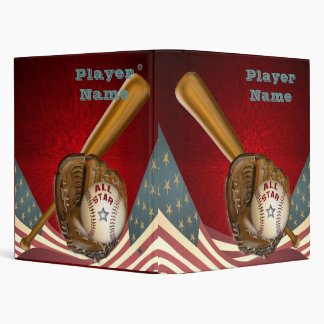 American All Star Baseball Binder